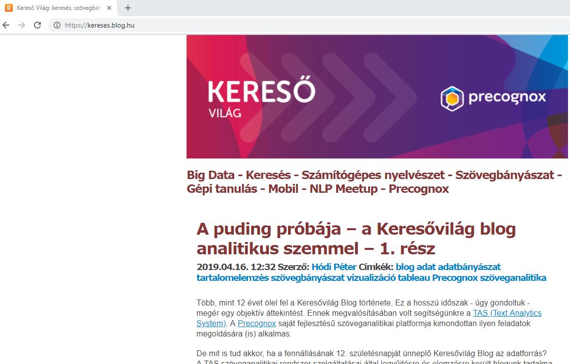 Data collector, Precognox
